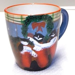Oneida Cat Christmas Mug